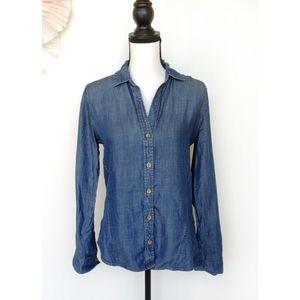 Anthropologie Cloth & Stone Chambray Denim Shirt